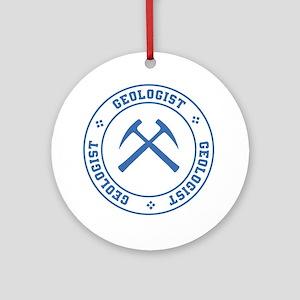 Geologist Round Ornament