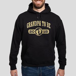Grandpa To Be 2018 Hoodie (dark)