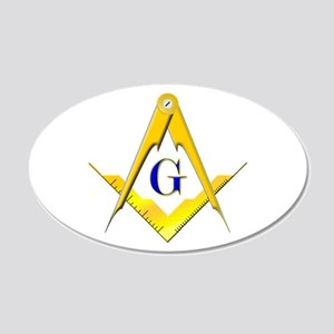 Masonic 22x14 Oval Wall Peel