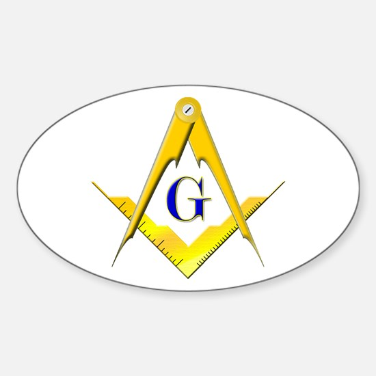 Masonic Sticker (Oval)