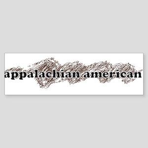 appalachian american Sticker (Bumper)