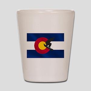 Colorado Snowboarding Shot Glass