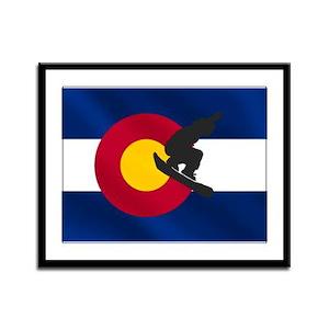Colorado Snowboarding Framed Panel Print
