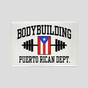 Puerto Rican Bodybuilder Rectangle Magnet