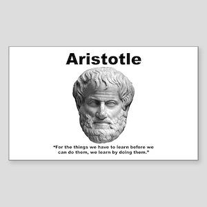 Aristotle Learn Sticker (Rectangle)