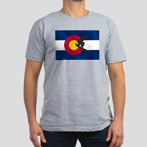 Colorado Snowboarding Men's Fitted T-Shirt (dark)