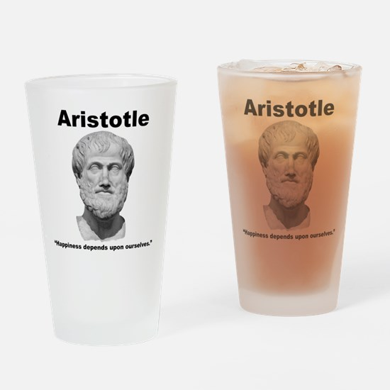 Aristotle Happiness Pint Glass