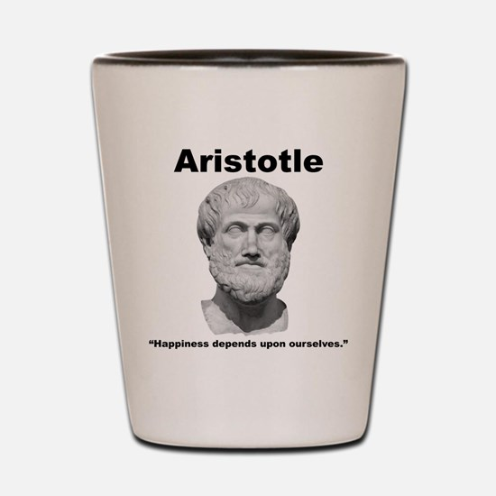 Aristotle Happiness Shot Glass