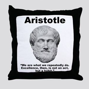 Aristotle Excellence Throw Pillow