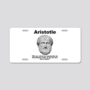 Aristotle Excellence Aluminum License Plate
