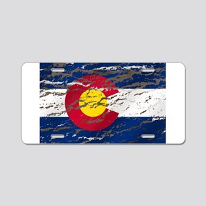 Colorado retro wash flag Aluminum License Plate