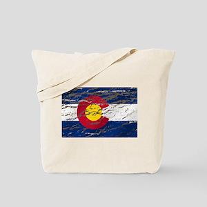 Colorado retro wash flag Tote Bag