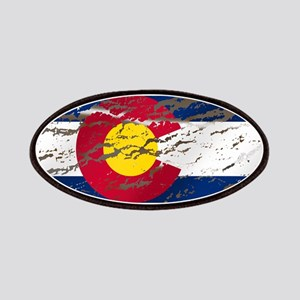 Colorado retro wash flag Patches