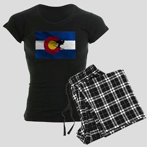 Colorado Skiing Women's Dark Pajamas