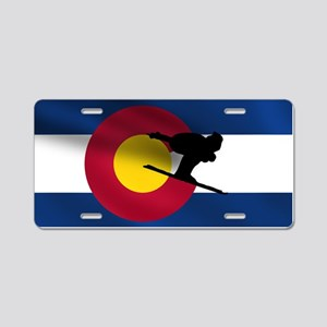 Colorado Skiing Aluminum License Plate