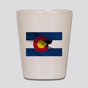 Colorado Skiing Shot Glass