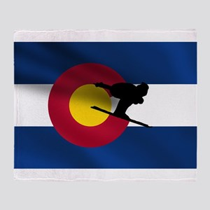 Colorado Skiing Throw Blanket