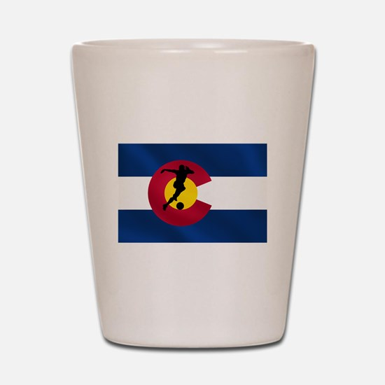 Colorado Soccer Shot Glass