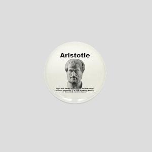 Aristotle Courage Mini Button