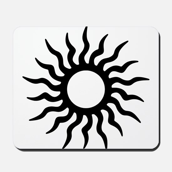 Tribal Sun Icon Mousepad