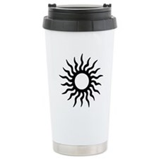 Tribal Sun Icon Stainless Steel Travel Mug
