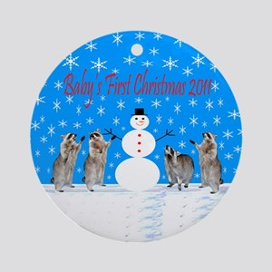 Baby's First Christmas 2011 Ornament (Round)