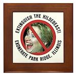 Anti-Hillary Park Ridge Framed Tile