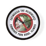 Anti-Hillary Park Ridge Wall Clock