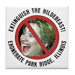 Anti-Hillary Park Ridge Tile Coaster