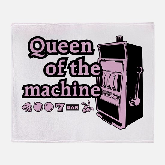 Queen of the machine Throw Blanket
