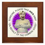 Take Hillary Away Framed Tile