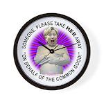 Take Hillary Away Wall Clock