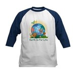 Earth For Life Kids Baseball Jersey