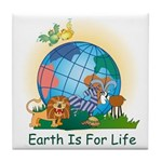 Earth For Life Tile Coaster