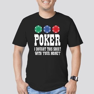 POKER Men's Fitted T-Shirt (dark)