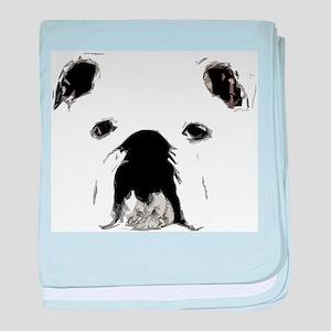 Bulldog Bacchanalia baby blanket