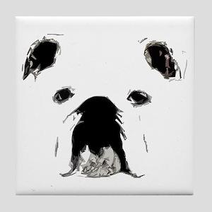 Bulldog Bacchanalia Tile Coaster