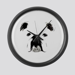 Bulldog Bacchanalia Large Wall Clock