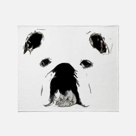 Bulldog Bacchanalia Throw Blanket