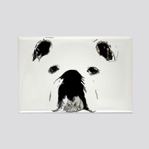 Bulldog Bacchanalia Rectangle Magnet
