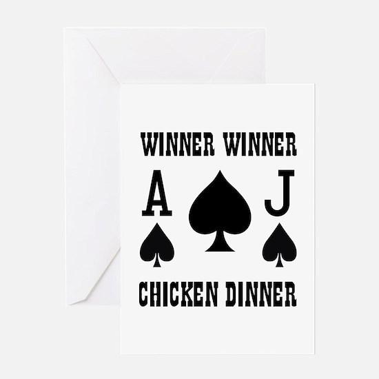 WINNER CHICKEN DINNER Greeting Card
