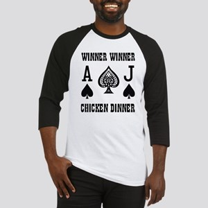 WINNER CHICKEN DINNER Baseball Jersey