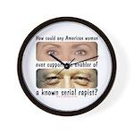 Anti-Hillary Rape Enabler Wall Clock