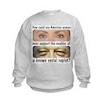 Anti-Hillary Rape Enabler Kids Sweatshirt