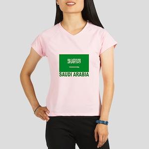 Saudi Arabia Flag Women's double dry short sleeve