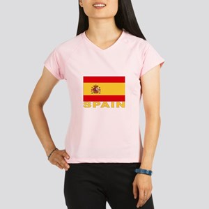 Spain Flag Women's double dry short sleeve mesh sh