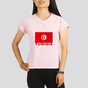 Tunisia Flag Women's double dry short sleeve mesh
