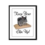 Keep Your Chin Up Framed Panel Print