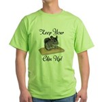 Keep Your Chin Up Green T-Shirt