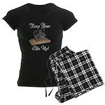Keep Your Chin Up Women's Dark Pajamas